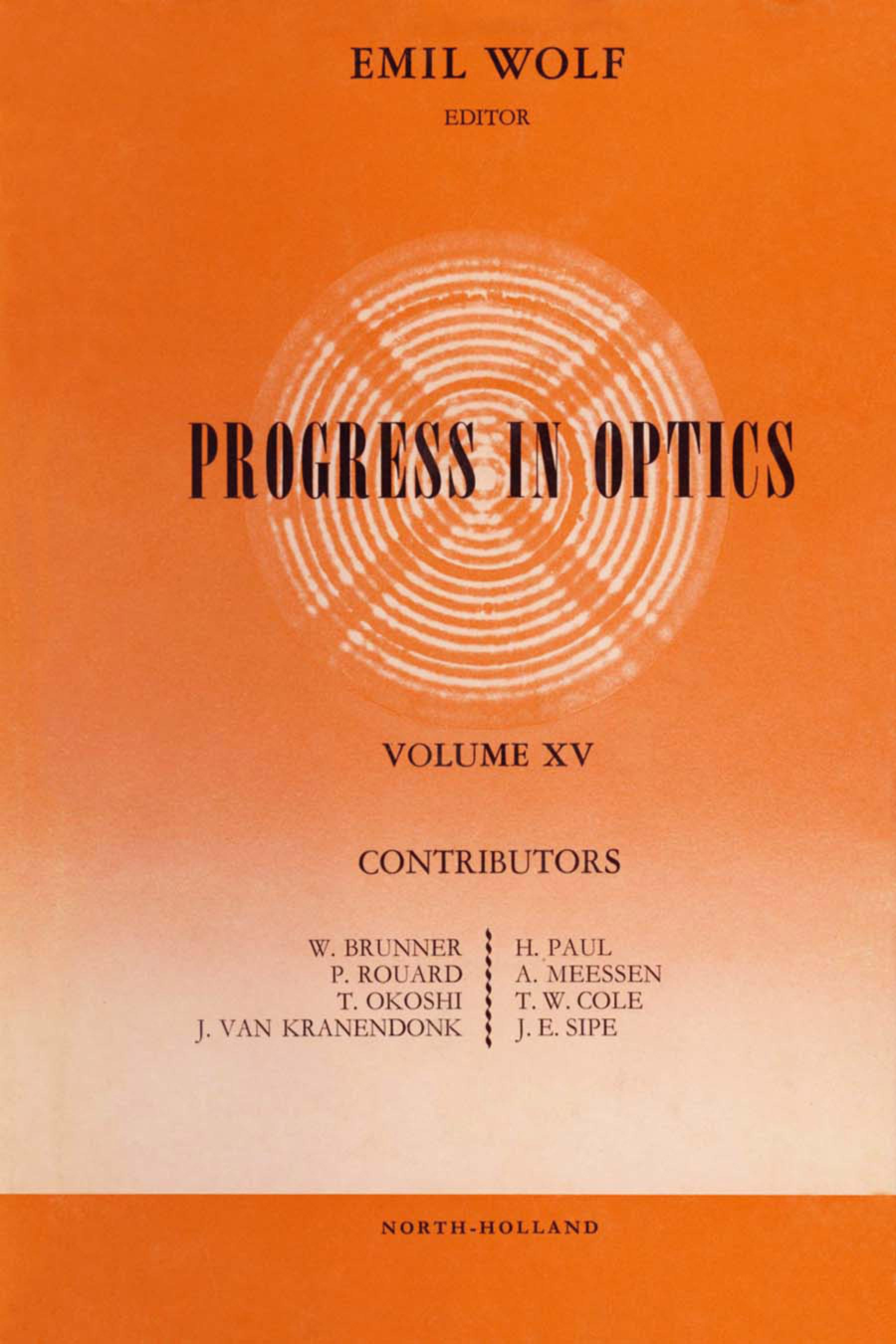 Progress in Optice EB9780080880105
