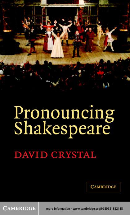 Pronouncing Shakespeare EB9780511112133