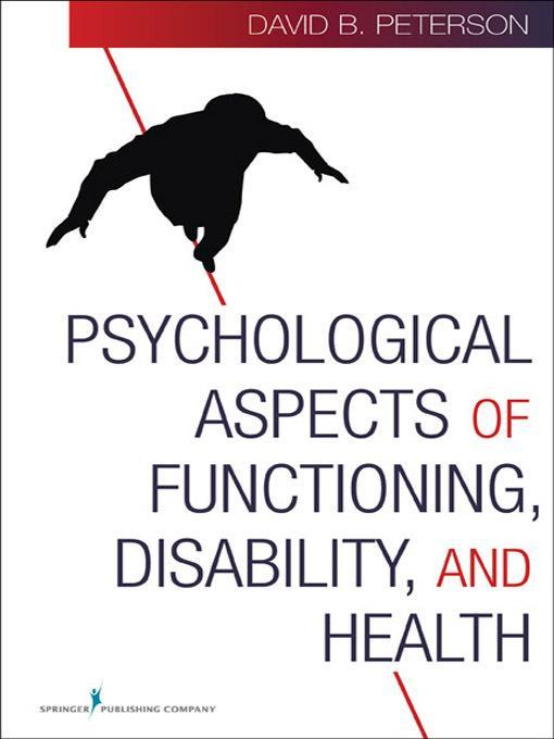 Psychological Aspects of Functioning, Disability, and Health EB9780826123466