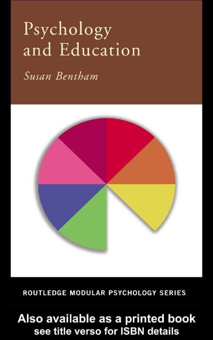 Psychology and Education EB9780203465714