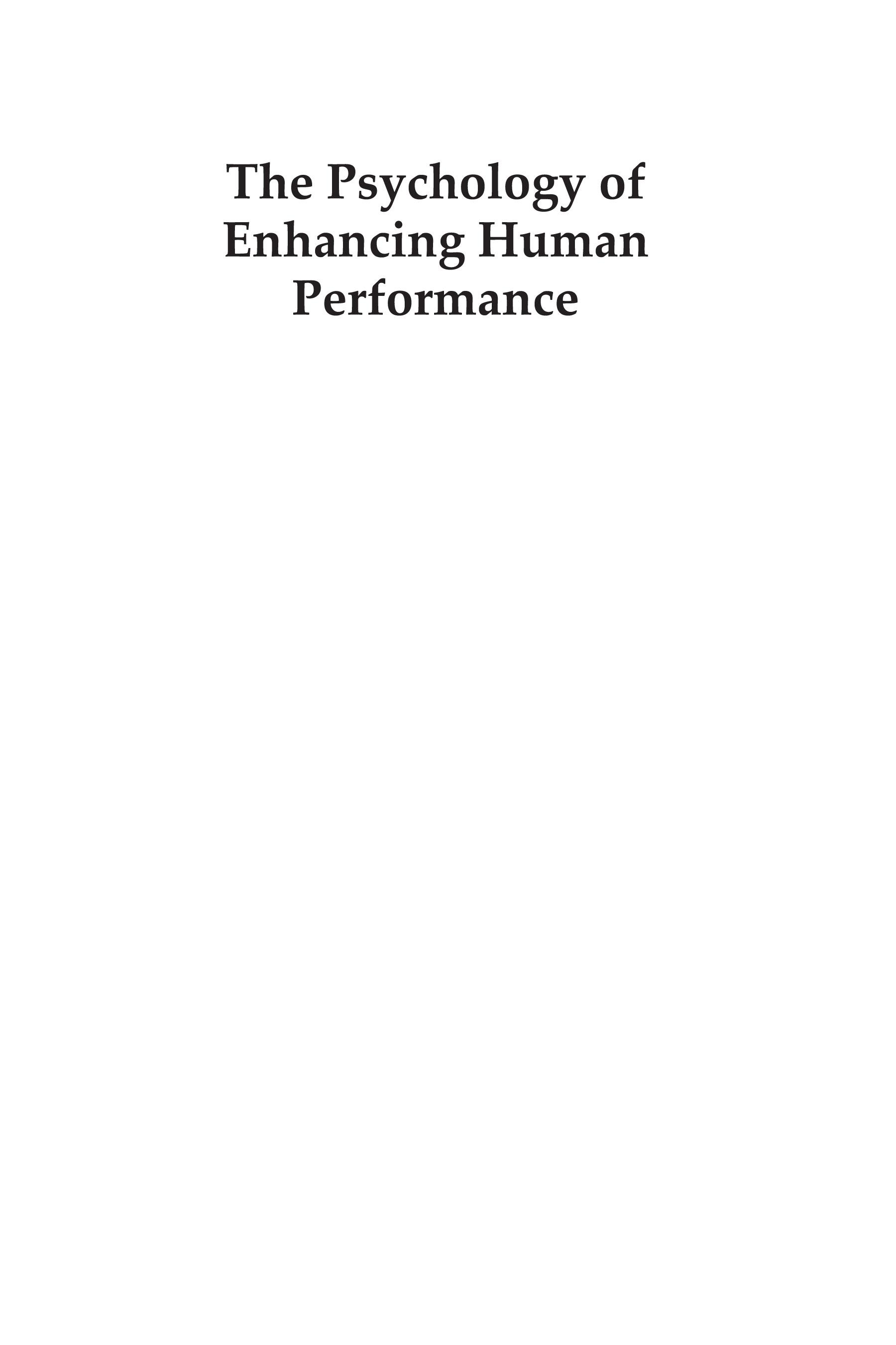 Psychology of Enhancing Human Performance, The: The Mindfulness-Acceptance-Commitment Approach