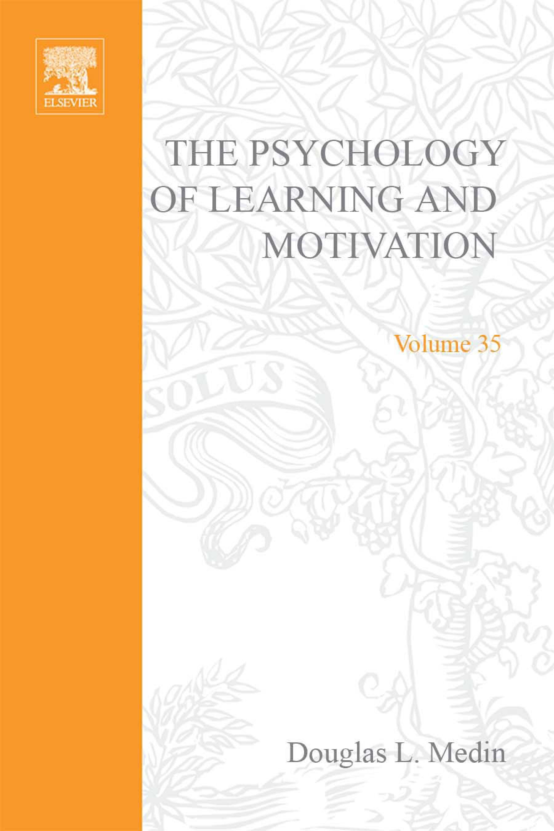 Psychology of Learning and Motivation: Advances in Research and Theory EB9780080863863