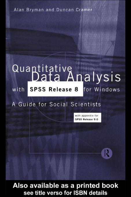 Quantitative Data Analysis with SPSS Release 8 for Windows EB9780203767863