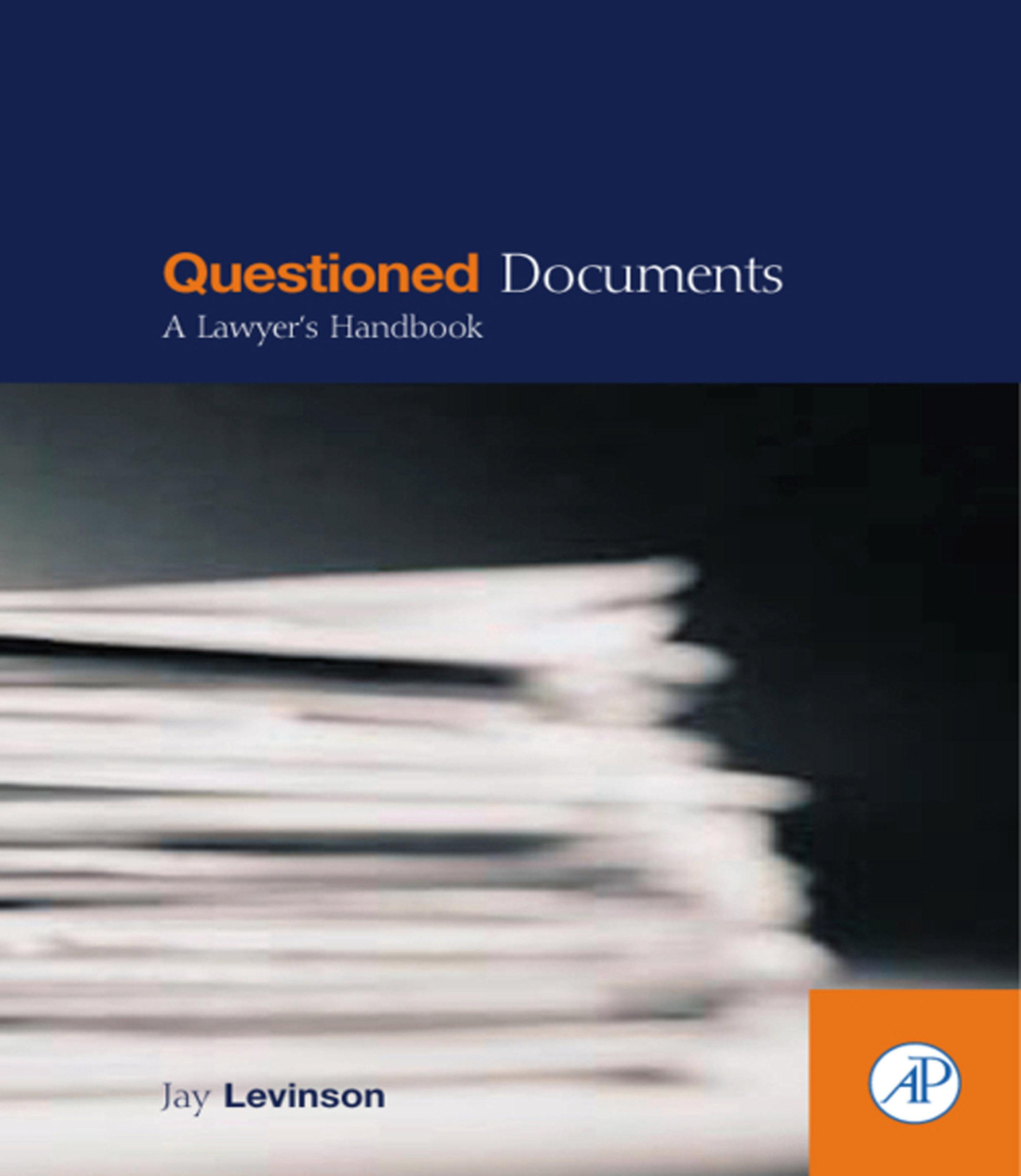 Questioned Documents: A Lawyer's Handbook EB9780080515601