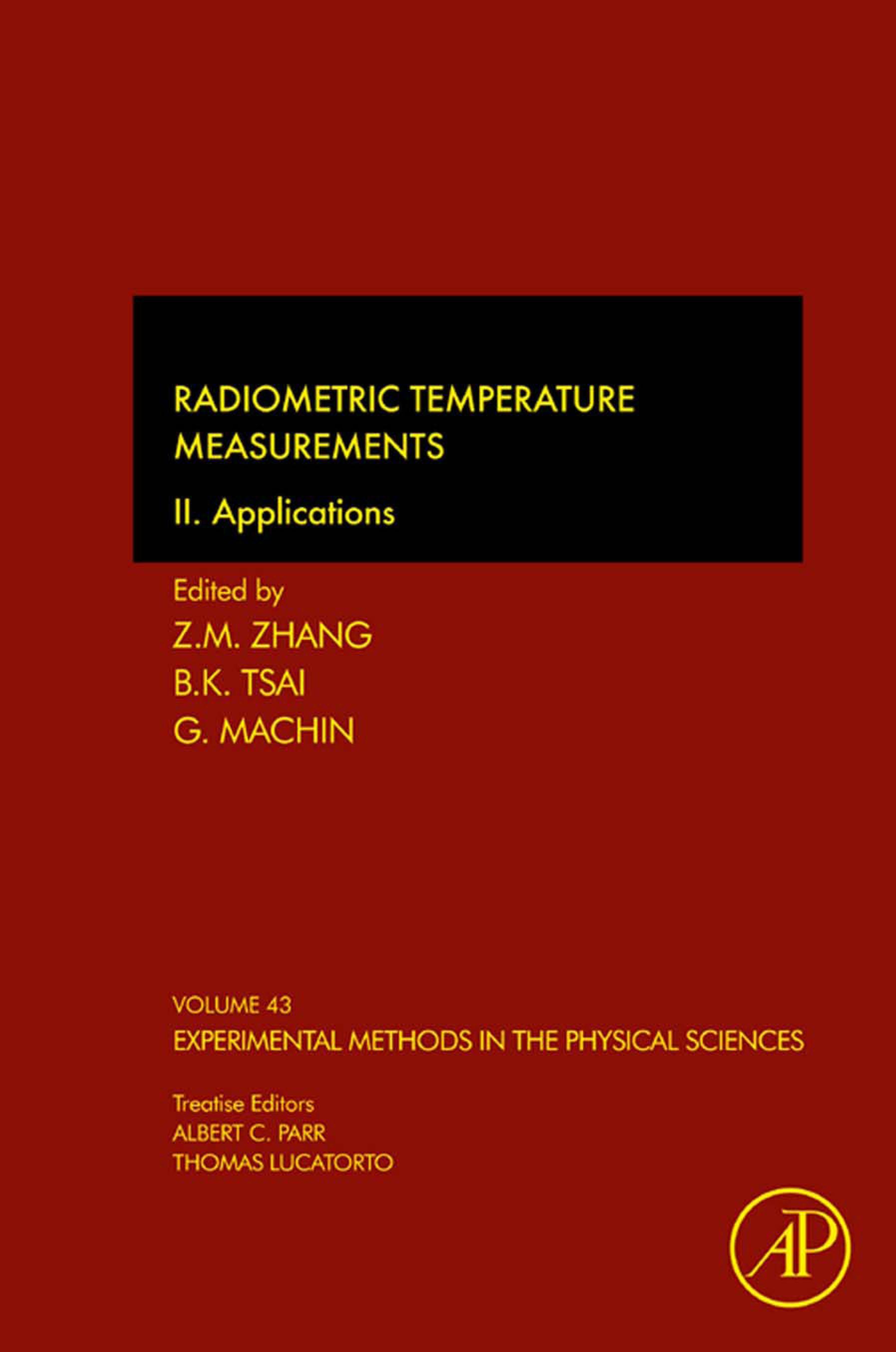 Radiometric Temperature Measurements: II. Applications EB9780123785657