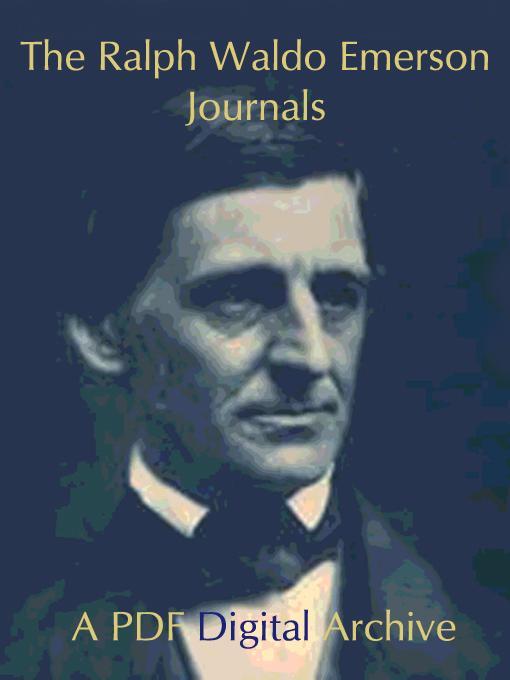 Ralph Waldo Emerson Journals, Volume 10 EB9780977785094