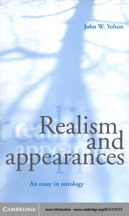 Realism and Appearances EB9780511034497