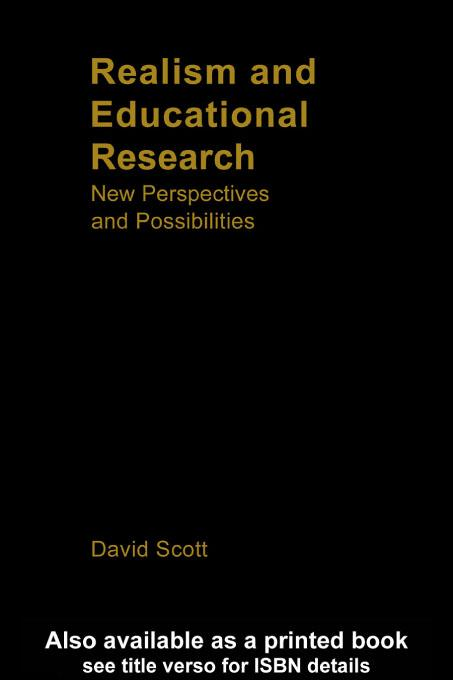 Realism and Educational Research EB9780203187449