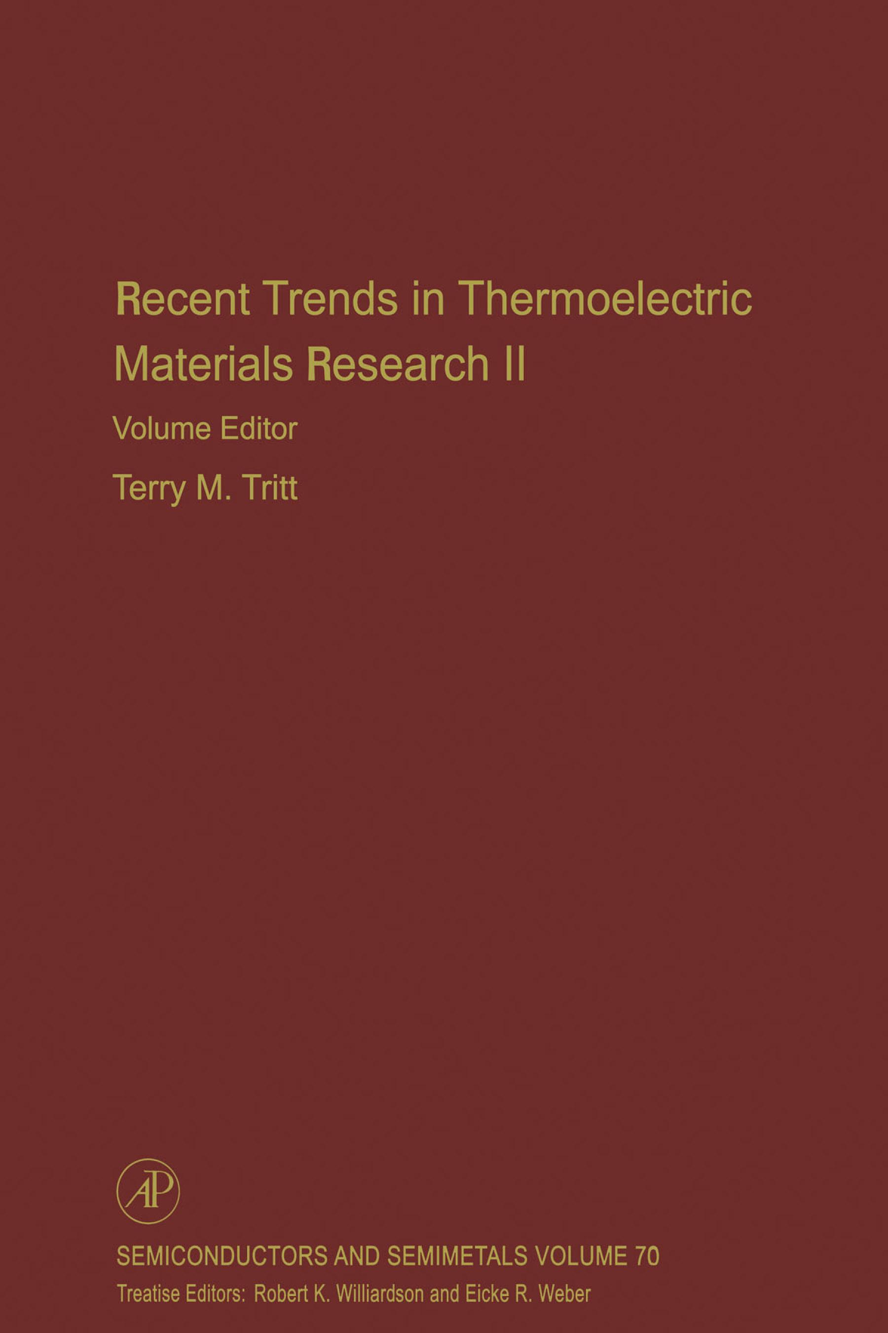Recent Trends in Thermoelectric Materials Research, Part Two EB9780080540986