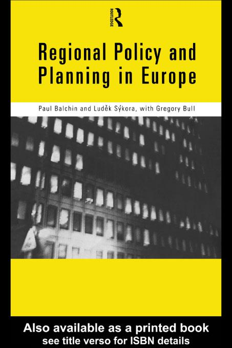 Regional Policy and Planning in Europe EB9780203198704