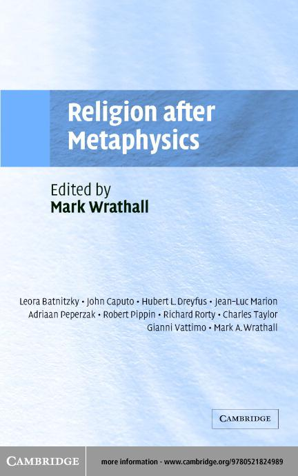 Religion after Metaphysics EB9780511056086