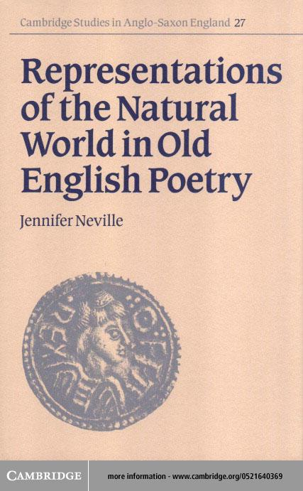 Representations of the Natural World in Old English Poetry EB9780511036149