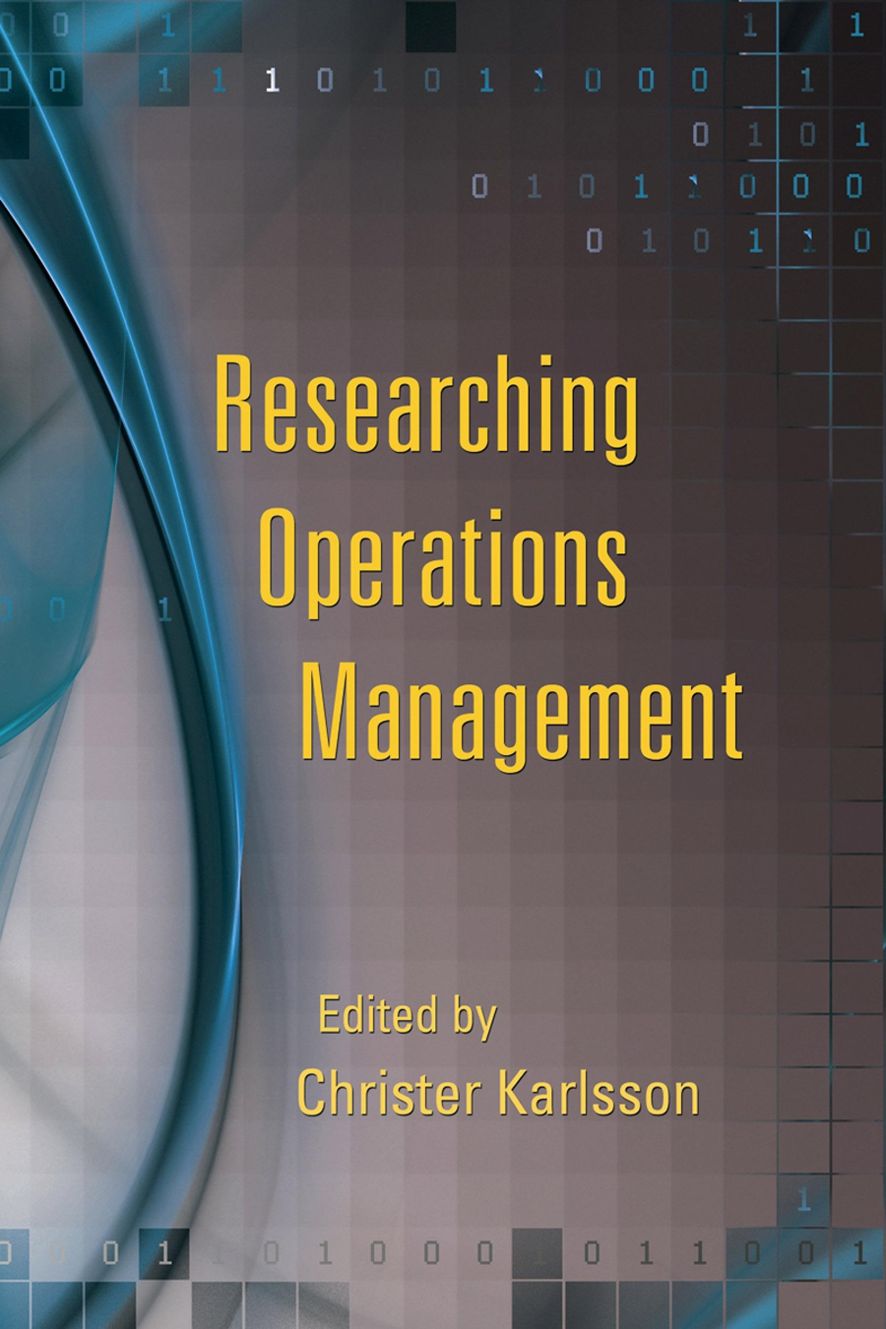 Researching Operations Management EB9780203886816