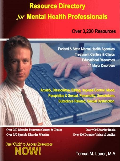 Resource Directory for Mental Health Professionals EB9780966207859