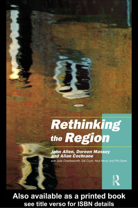 Rethinking the Region EB9780203172964