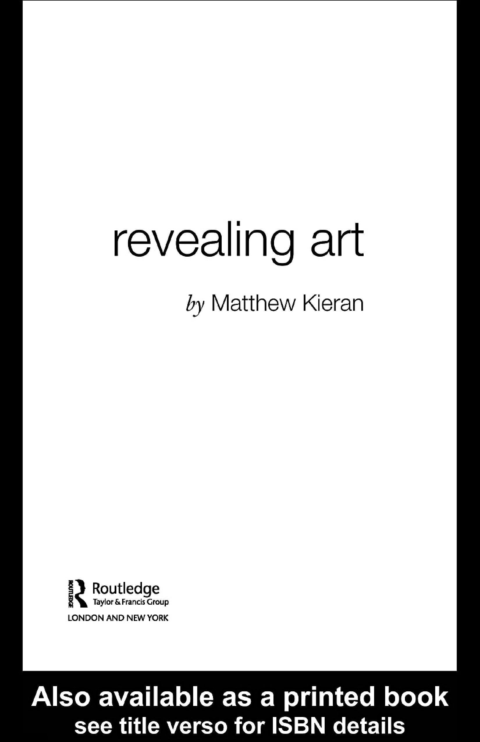 Revealing Art EB9780203642351