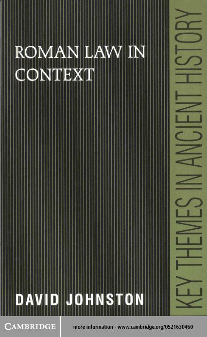 Roman Law in Context EB9780511035685