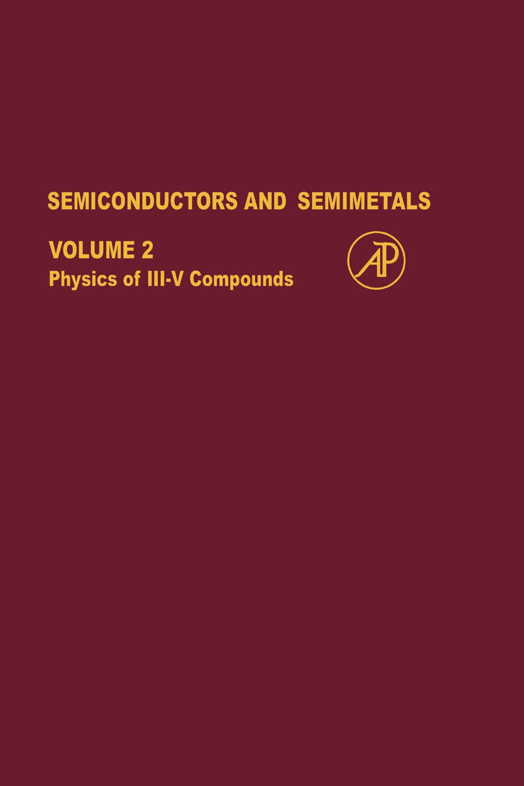 SEMICONDUCTORS & SEMIMETALS V2 EB9780080863917
