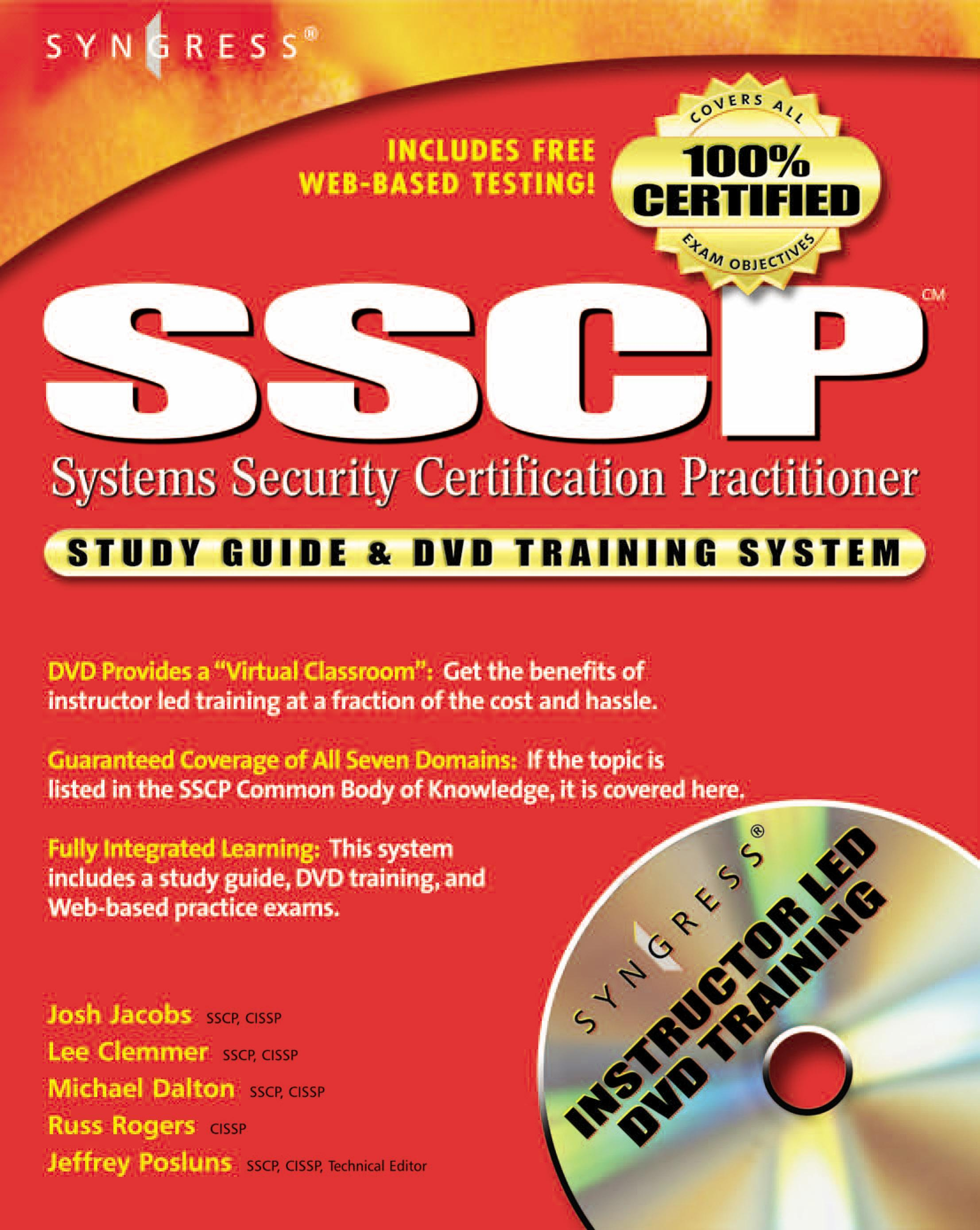 SSCP Systems Security Certified Practitioner Study Guide and DVD Training System EB9780080481074
