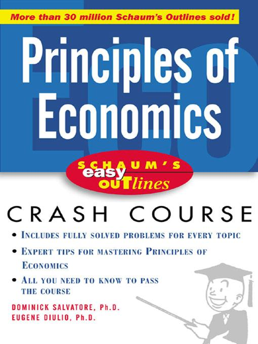 Schaum's Easy Outline of Principles of Economics EB9780071425834