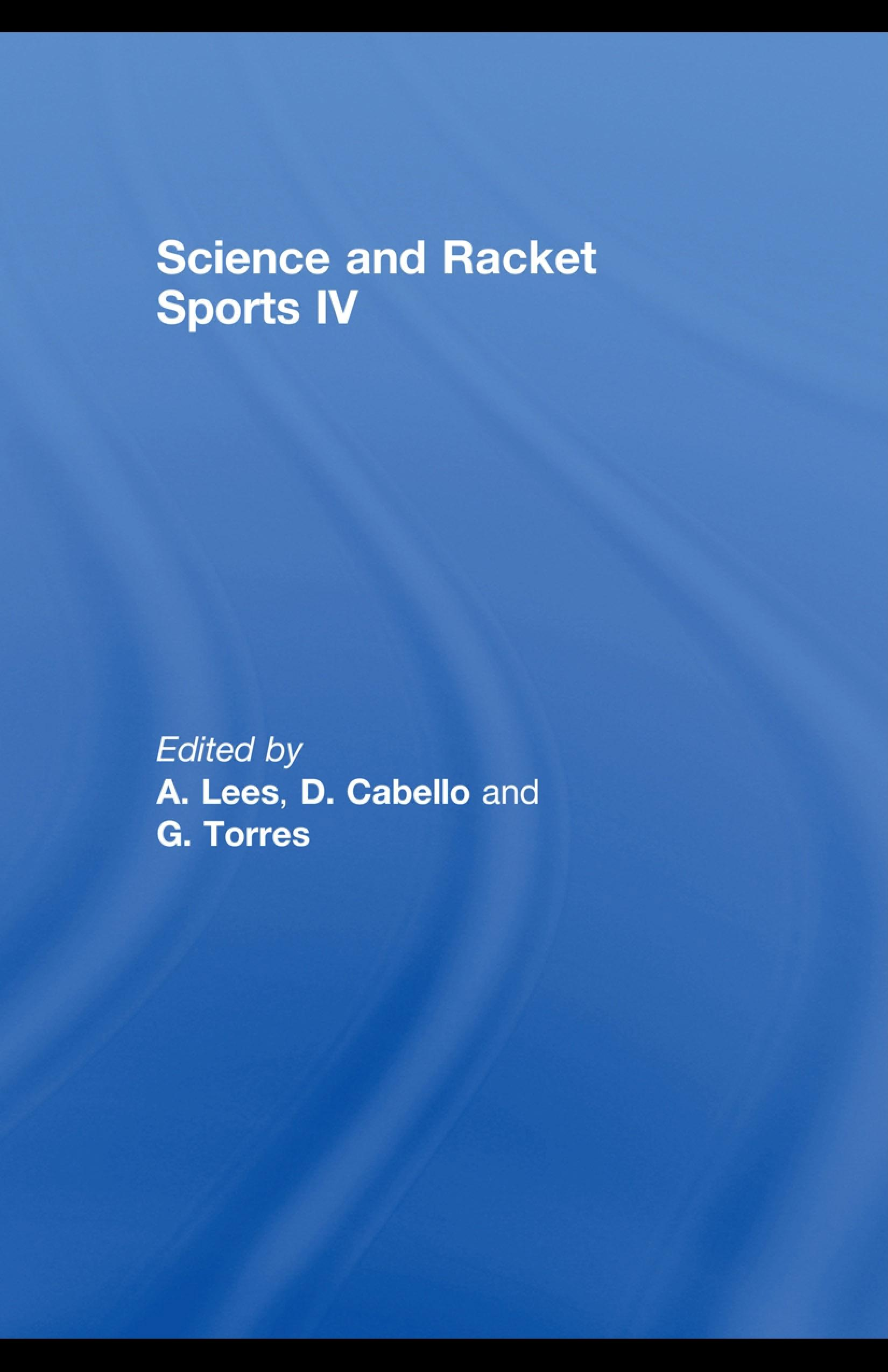 Science and Racket Sports IV EB9780203894873