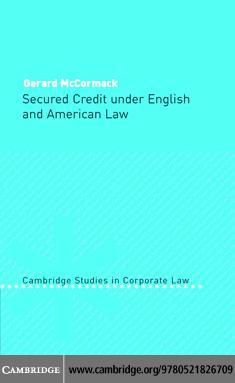 Secured Credit English American Law EB9780511207044