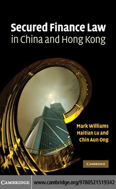 Secured Finance Law in China and Hong Kong EB9780511771316