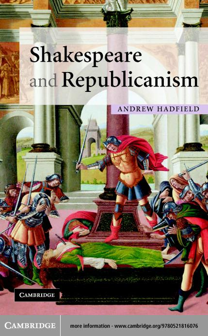 Shakespeare and Republicanism EB9780511128363