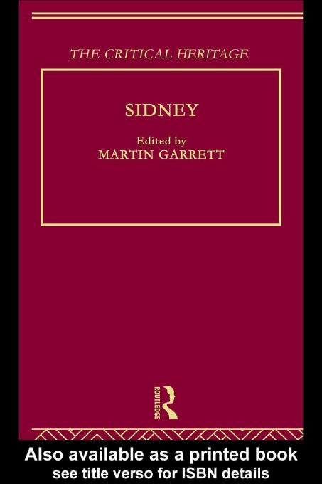 Sidney: The Critical Heritage EB9780203729014