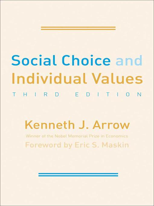 Social Choice and Individual Values EB9780300186987