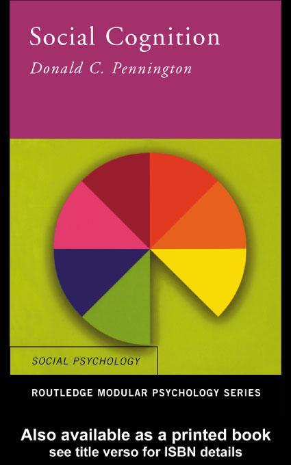 Social Cognition EB9780203179826