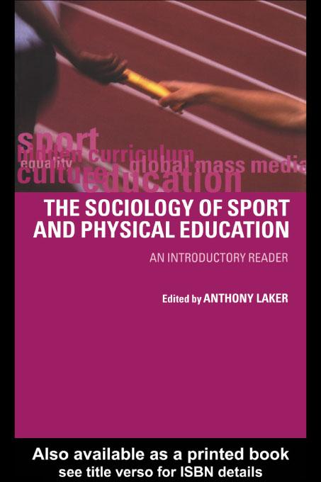 Sociology of Sport and Physical Education EB9780203194140