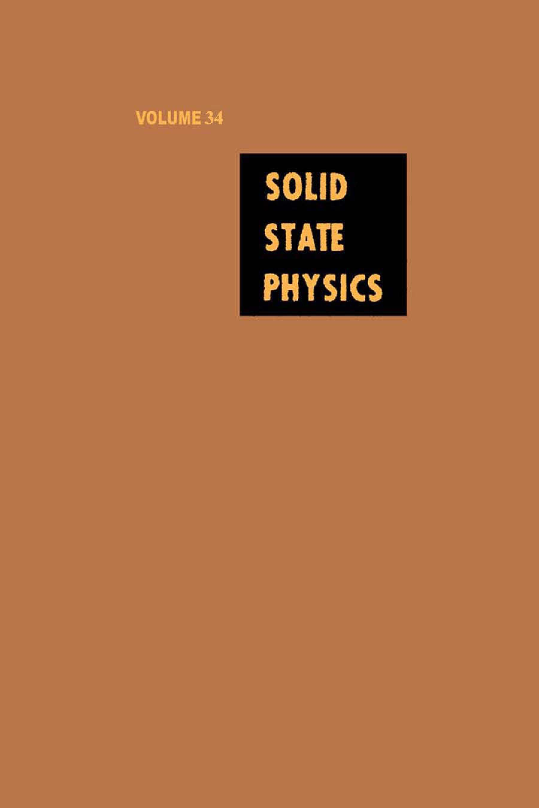 Solid State Physics V34 EB9780080864983