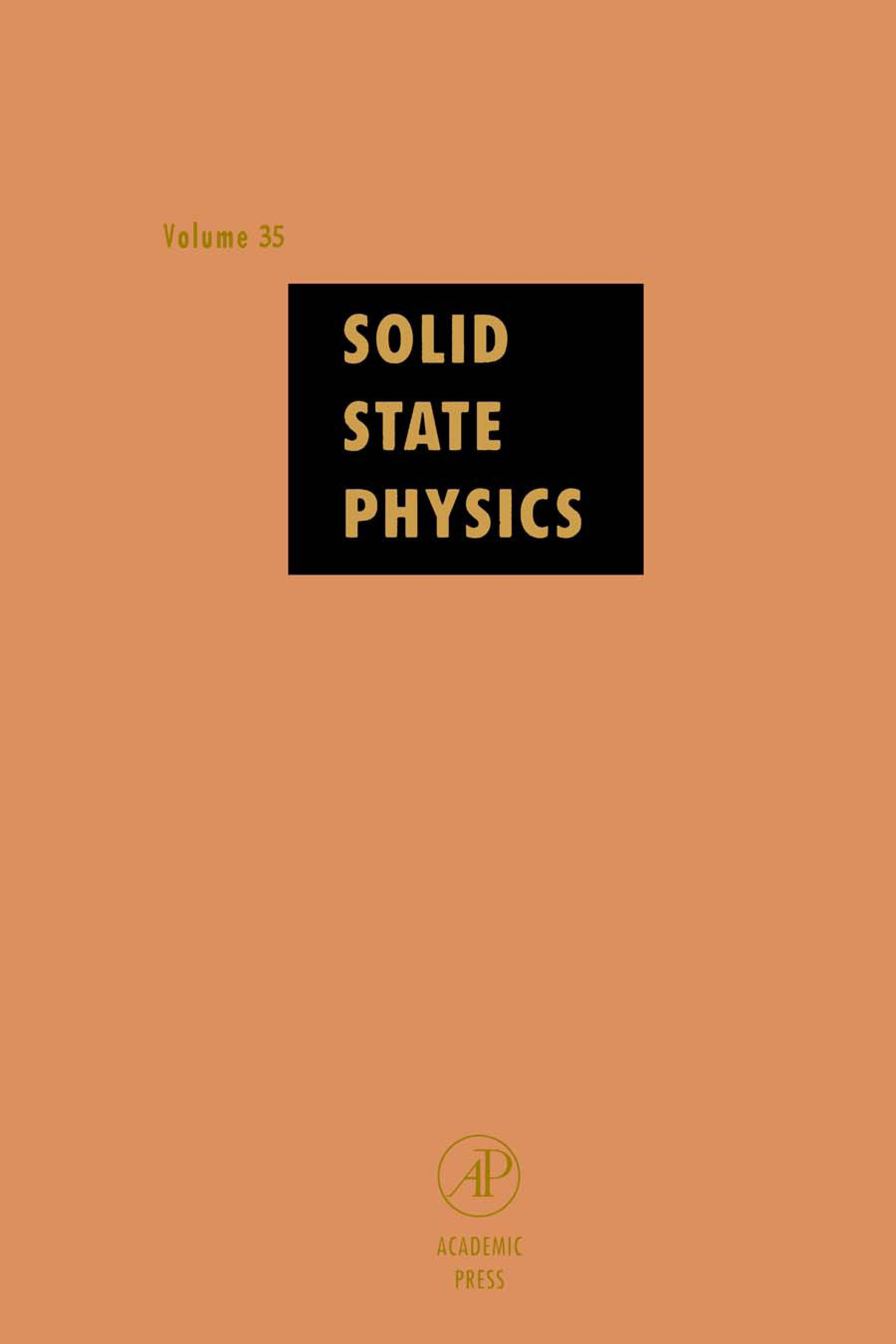 Solid State Physics V35 EB9780080864990