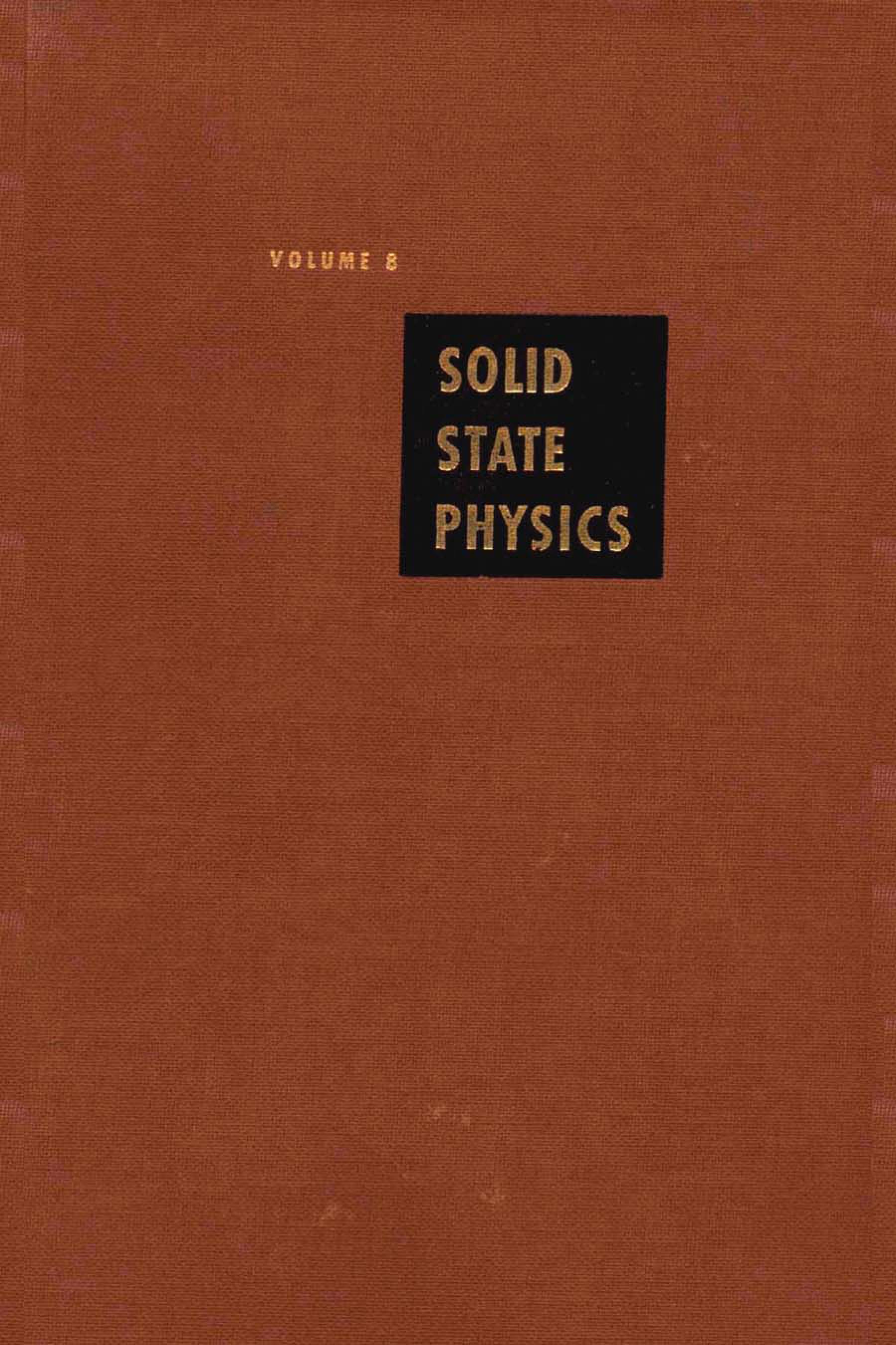 Solid State Physics V8 EB9780080864723