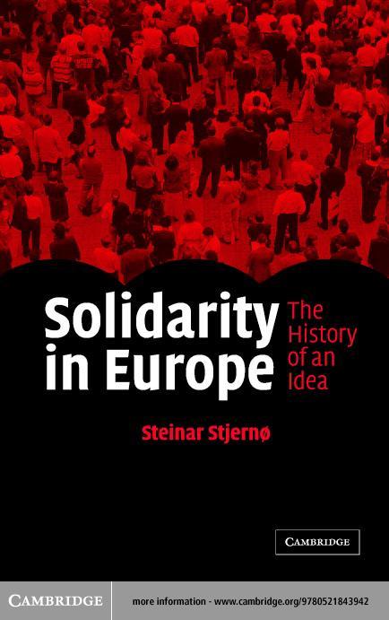 Solidarity in Europe EB9780511081439