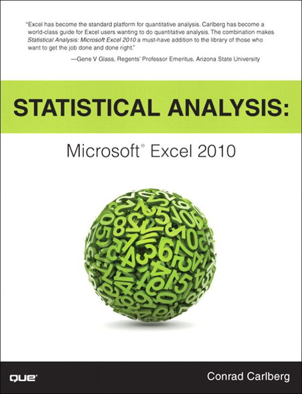 Statistical Analysis: Microsoft Excel 2010 EB9780132681919
