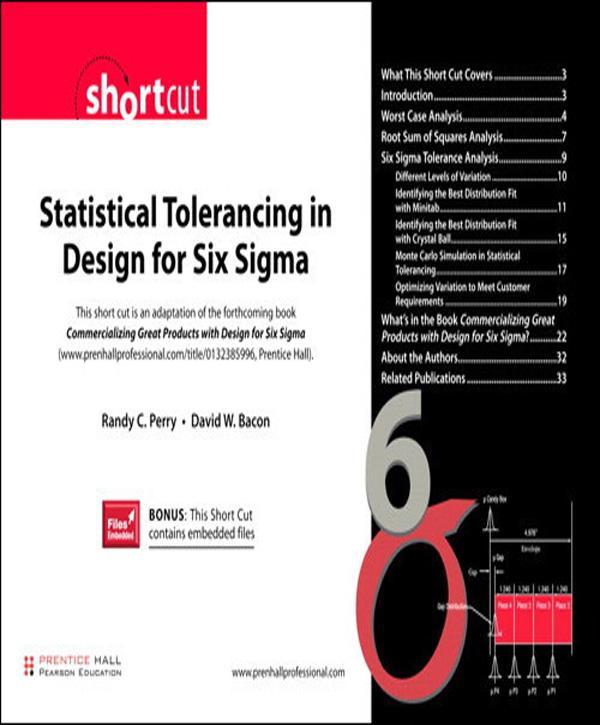 Statistical Tolerancing in Design for Six Sigma (Digital Short Cut) EB9780132712903