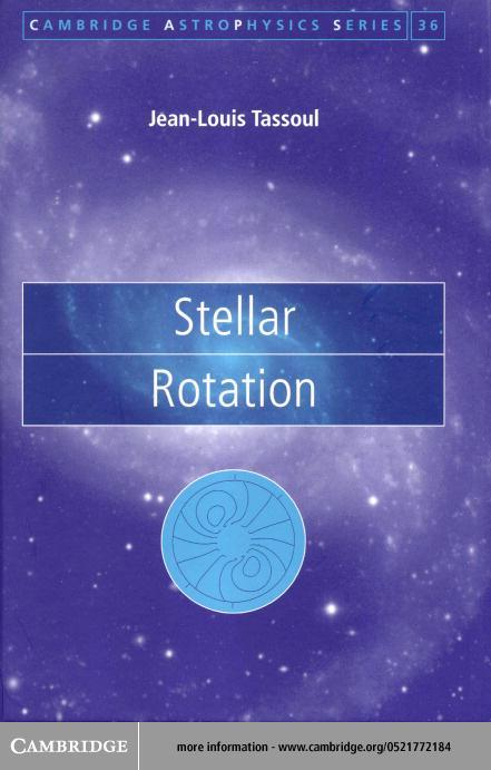 Stellar Rotation EB9780511034459