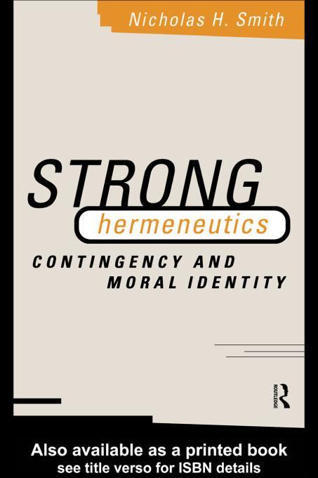 Strong Hermeneutics EB9780203053553