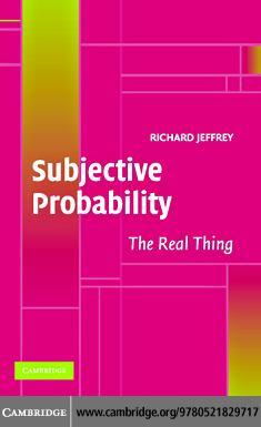 Subjective Probability EB9780511207082