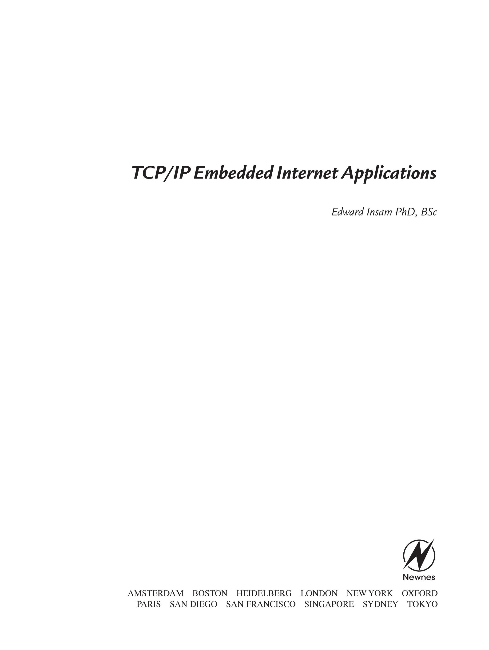 TCP/IP Embedded Internet Applications EB9780080474557