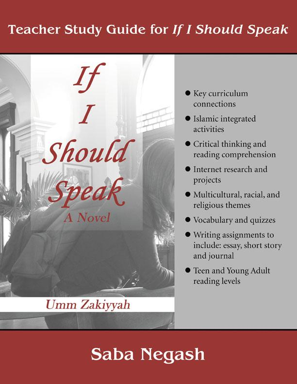 Teacher Study Guide for If I Should Speak (ebook) EB9780970766762