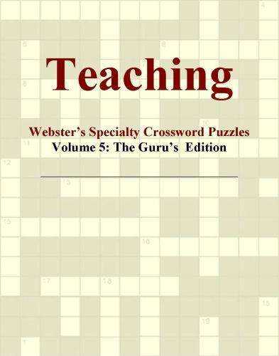 Teaching - Webster's Specialty Crossword Puzzles, Volume 5: The Guru's  Edition