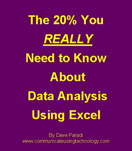 The 20% You REALLY Need To Know About Data Analysis Using Excel EB9780969875154
