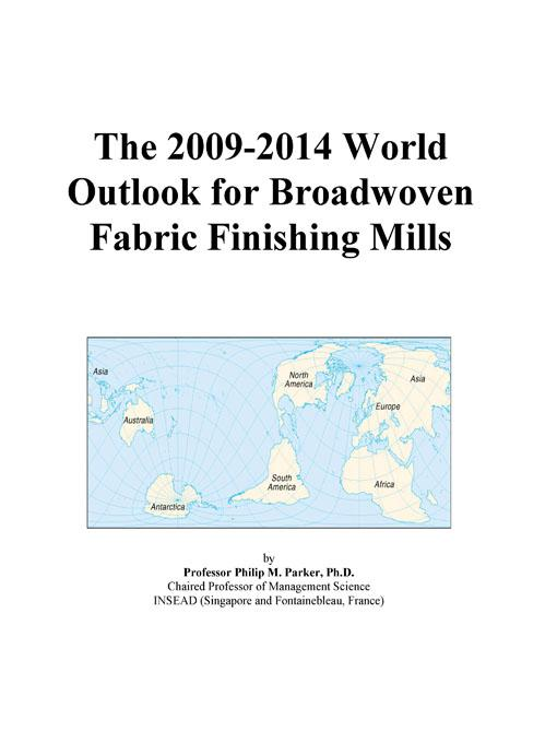 The 2009-2014 World Outlook for Textile Bags Manufacturing Icon Group