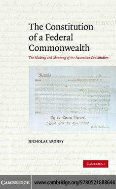 The Constitution of a Federal Commonwealth EB9780511501135