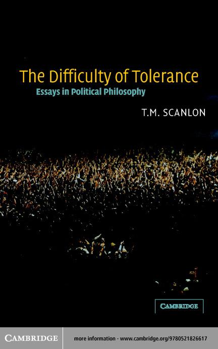 The Difficulty of Tolerance EB9780511056277