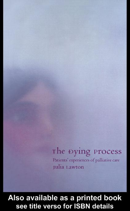 The Dying Process EB9780203180303
