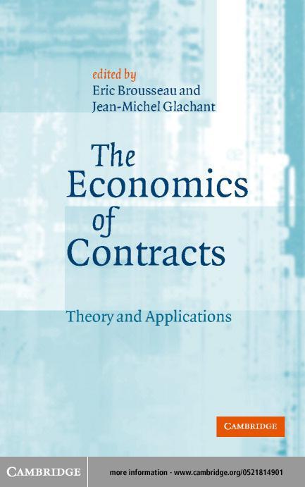 The Economics of Contracts EB9780511030369
